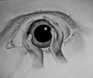 art, picture, and eyes image