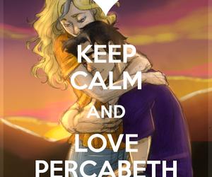 percy jackson, percabeth, and keep calm image