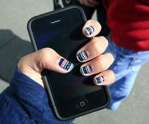 nails, iphone, and aztec image