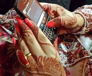 henna, phone, and red image