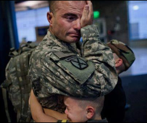 army, children, and crying image