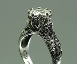 ring, vintage, and wedding image