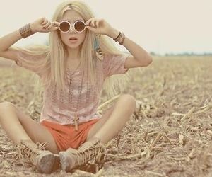 girl, hipster, and blonde image
