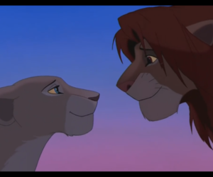 disney, simba, and love image