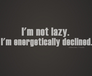 Lazy and text image