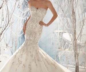 wedding, wedding dress, and bridal gown image