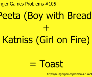 toast, katniss, and hunger games image