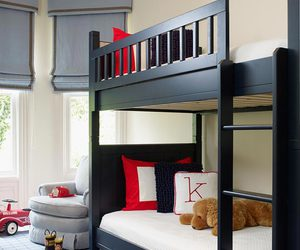 bedroom, bunk bed, and boys room image