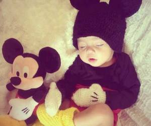 baby, cute, and mickey image