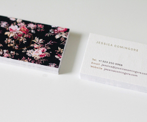 business card and design image