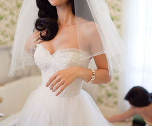 boobs, white, and bride image