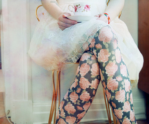 floral, flowers, and dress image
