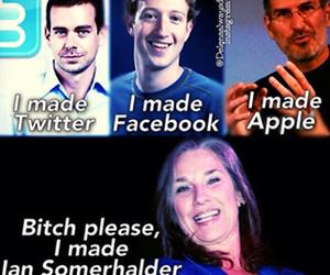 ian somerhalder, twitter, and apple image