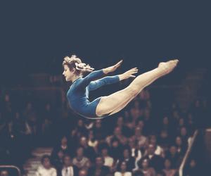 gymnast, gymnastics, and olga korbut image