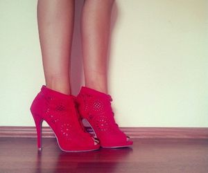 high heels, red, and love image