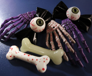 eyeballs, bones, and fashion image