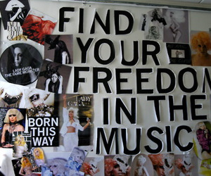 art, freedom, and Collage image