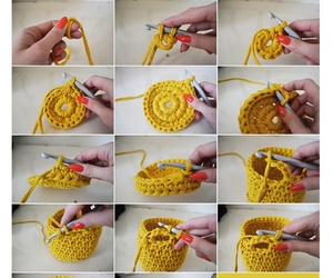 basket, crochet, and how image