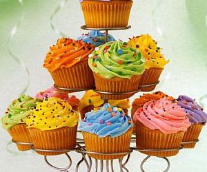 colorful, muffins, and sweet image