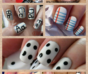 nails, nail designs, and back to school image