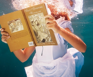 alice, water, and book image