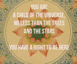 quote, universe, and child image