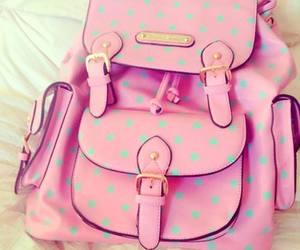 buckles, pink, and polka dots image