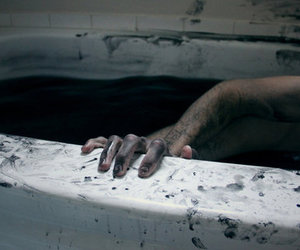 black, dark, and tub image