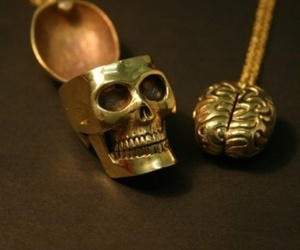 brain, skull, and necklace image