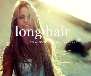 long hair, hair, and girl image