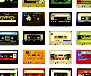 music, cassette, and retro image