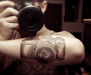 tattoo, camera, and boy image