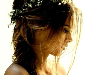 beautiful, flowers, and hair style image
