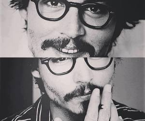 black and white, depp, and johnny depp image