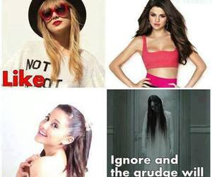 ariana grande, Taylor Swift, and Grudge image