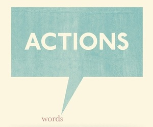 Action, words, and quotes image