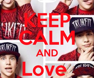 austin mahone, keep calm, and love image