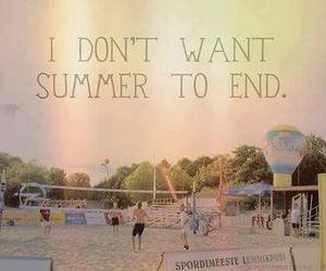 summer, end, and beach image