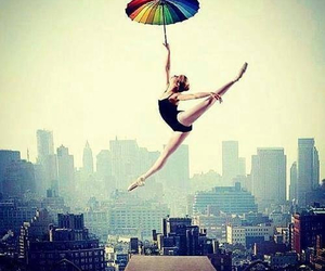 dance, umbrella, and ballet image