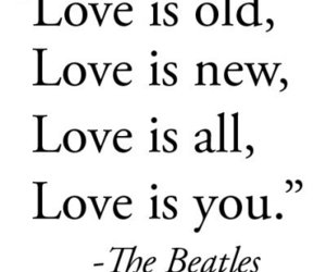 beatles, love, and liebe image