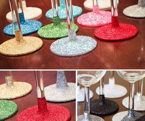 diy, glassware, and glittered image