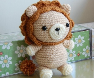 crochet, lion, and pattern image