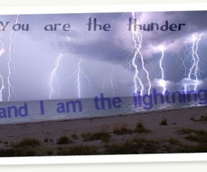 beach, lightning, and quote image