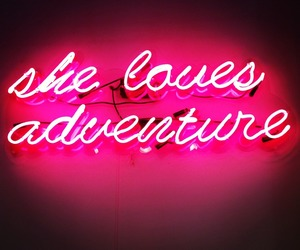 adventure, neon, and pink image