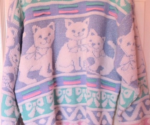 cat, sweater, and pastel image