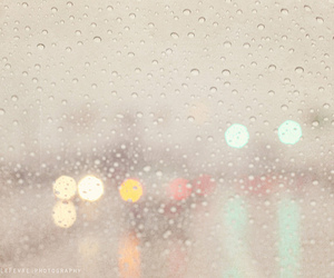 bokeh, lights, and rain image