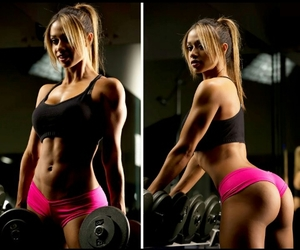 body, gym, and work out image