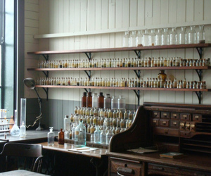 antique, chemistry, and jars image
