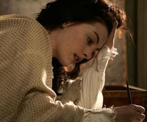 Anne Hathaway, becoming jane, and writing image