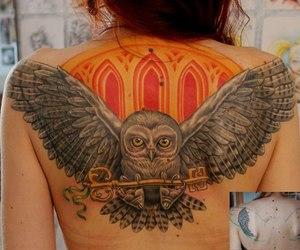 owl, tattoo, and cute image